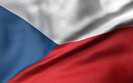 3D Illustration of Czech Republic Flag Reklamní fotografie