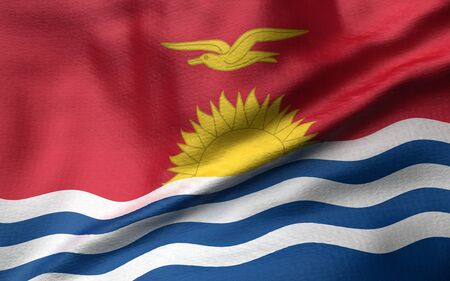 3D Illustration of Kiribati Flag