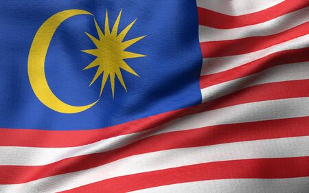 3D Illustration of Malaysia Flag Stock Photo