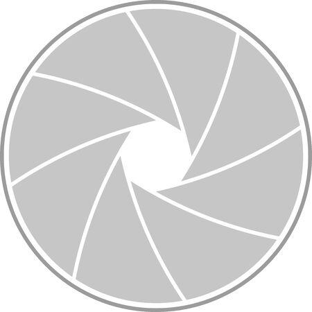 Vector Illustration of a Lens aperture Vecteurs