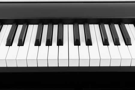 Modern Black and White Digital piano keyboard