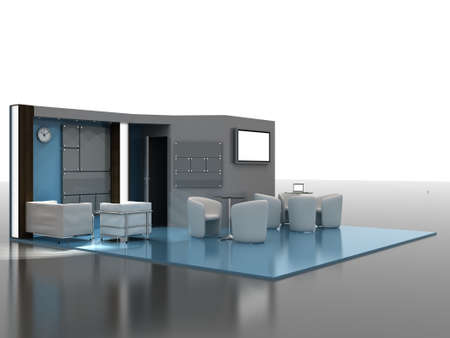 3d illustration of an Exhibition stand Stock fotó
