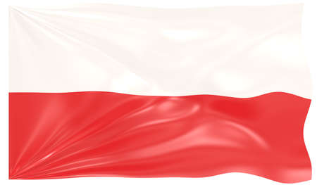3d Illustration of a Waving Flag of Poland