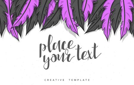 mould: Template design concept sketch illustration for marketing. Concept mockup for Web banner and promotional. Design modern template for printing postcard, poster and presentation. Conceptual background.