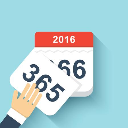 october calendar: Calendario del estilo del año bisiesto plana 366 días.
