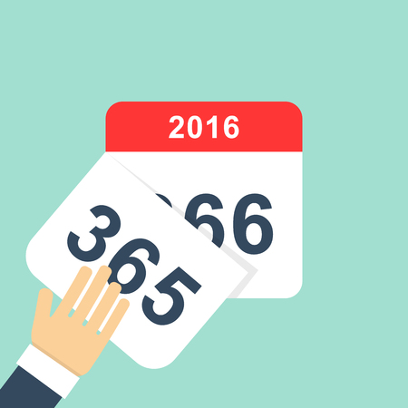 days: Calendar style flat leap year 366 days. Illustration