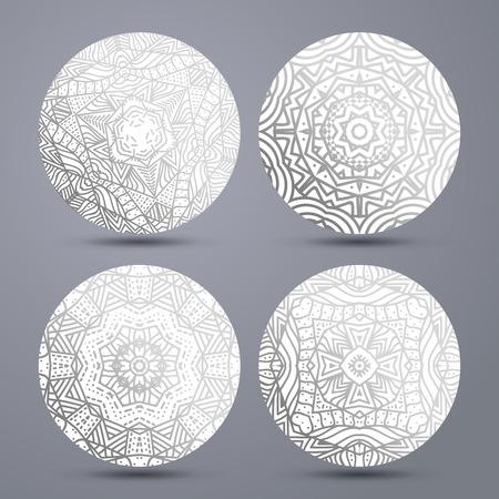 mandala: Set mandala pattern . Mandala stand hot. Mandala pattern on ceramics