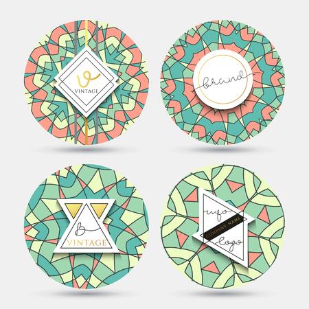 Mandala kaleidoscope in vintage style . Grange mandala with a geometric pattern . Mandala pattern for plates .