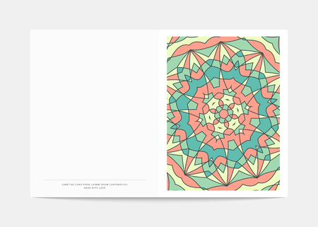 bum: Postcard Retro . Cover in a turn with a bright pattern . Postcard for congratulations . Wedding greeting card .