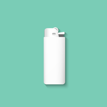 lighter: Vector lighters. Lighter isolated on a green background. Template lighter.