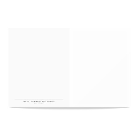 complimentary: Postcard template isolated on a white background. Postcard template for design. Open vector. Complimentary booklet. NET design pattern for creating greeting cards.