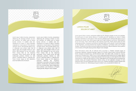 Business brochure . Brochure Flyer design. Front page and back page. Brochure Layout template. Easy to use and edit. Illustration