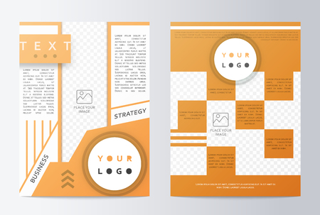 bleed: Business brochure. Brochure Flyer design. Mockup front page and back page. Brochure Layout template. Easy to use and edit.  Business paper. Presentation sheet Illustration