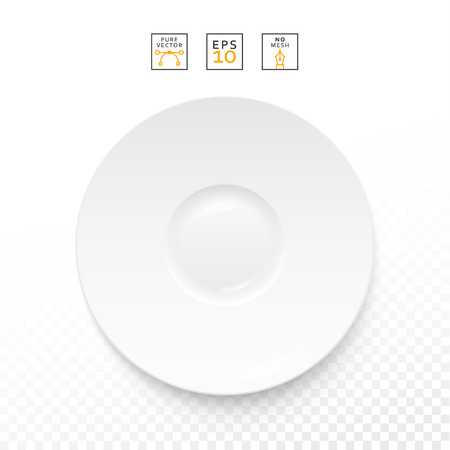dieting: Cutlery items realistic. Plate isolation on a white background . Cutlery object realistic