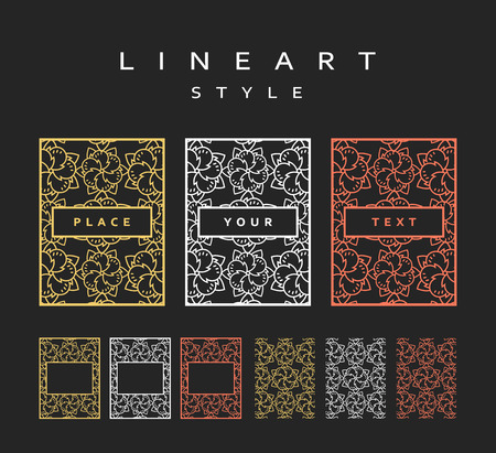 Set of design elements. Labels and frames for packaging for luxury products. The frame for the design.