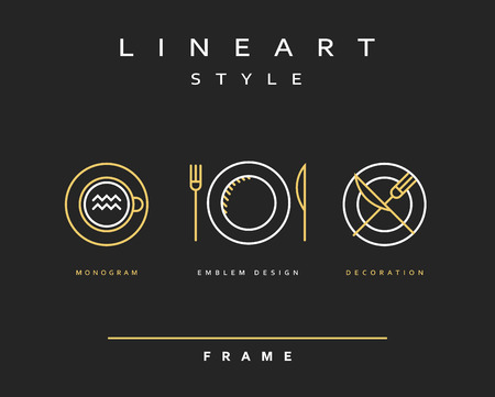 restaurant icons: Set cutlery icons. Plate fork and knife . Template for food presentation , advertising text . Template for cafes, restaurants, bars, hotels. Beautiful , stylish sketch background - the template . Illustration