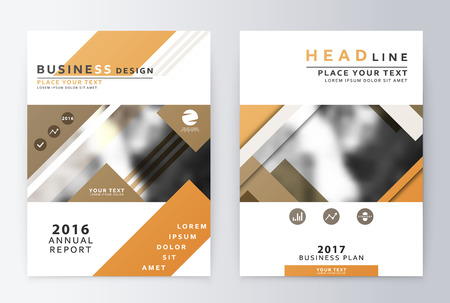 leaflets: Ready design annual report business finance. Leaflets and cover A4 presentation layout.