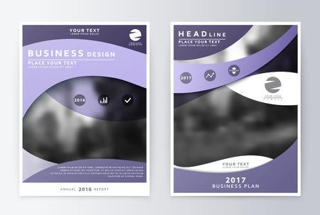 Design finito annuale finanza rapporto di gestione. Volantini e copertura A4 layout di presentazione.
