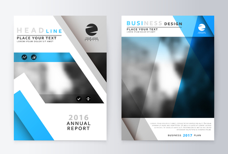 Annual Report Brochure A Vector Annual Report Design Of The