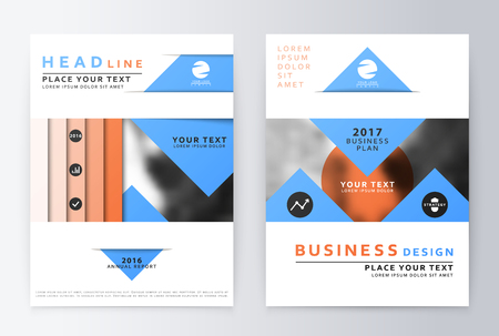 Annual report brochure. Business plan flyer design template. Business paper. Leaflet cover presentation layout in A4 size. Vetores