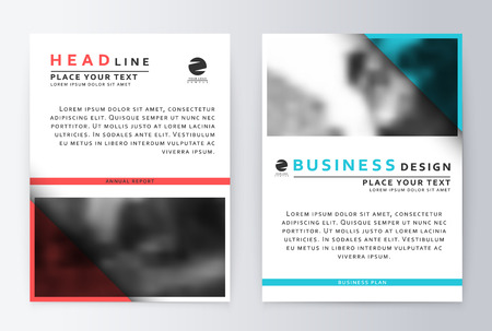 annual report: Cover design blue and red. Template brochure. Flyer annual report layout. Presentation template business flyer a4 blue. Illustration