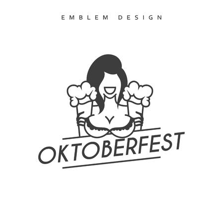 wiesn: Vector illustration design Emblem Oktoberfest. Festivities in Germany. Oktoberfest Celebration