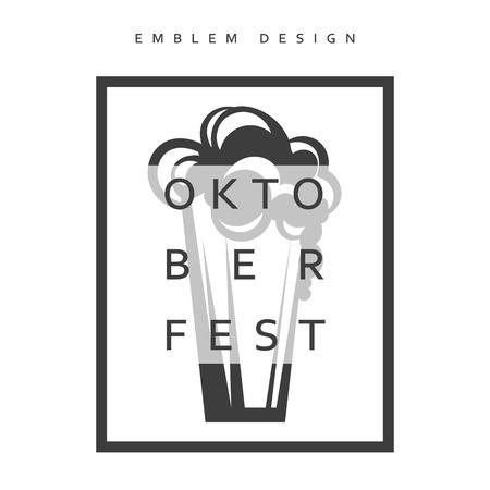 festivities: Vector illustration design Emblem Oktoberfest. Festivities in Germany. Oktoberfest Celebration