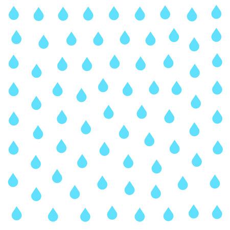 Lluvia del doodle plana aislada en el fondo blanco. Aguacero, precipitaciones tiempo de la lluvia. efecto natural con la lluvia. estilo de dibujos animados de lluvia