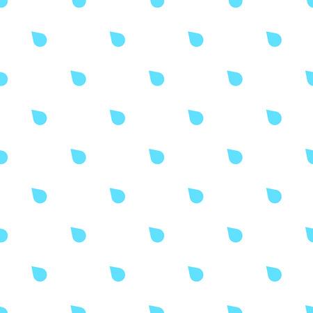 torrential rain: Rain doodle flat pattern seamless, isolated on white background. Downpour, rain weather rainfall. Natural effect with rain. Rain cartoon style Illustration