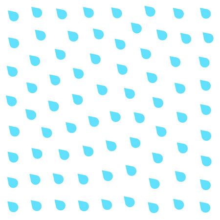 drench: Lluvia del doodle plana aislada en el fondo blanco. Aguacero, precipitaciones tiempo de la lluvia. efecto natural con la lluvia. estilo de dibujos animados de lluvia