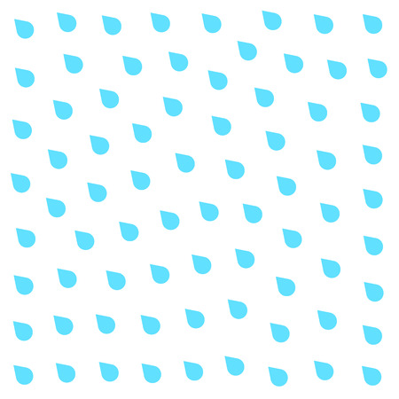 rainfall: Rain doodle flat isolated on white background. Downpour, rain weather rainfall. Natural effect with rain. Rain cartoon style