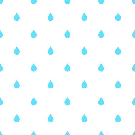 doodle de lluvia sin fisuras patrón plano, aislado en fondo blanco. Aguacero, precipitaciones tiempo de la lluvia. efecto natural con la lluvia. estilo de dibujos animados de lluvia