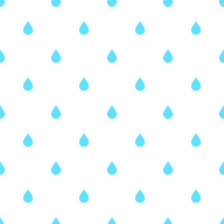 rainfall: Rain doodle flat pattern seamless, isolated on white background. Downpour, rain weather rainfall. Natural effect with rain. Rain cartoon style Illustration