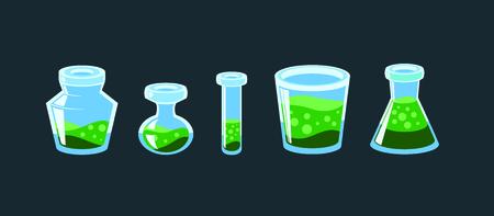 alchemist: set of alchemist bottles. Can use for game