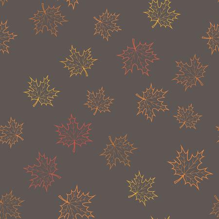 colores calidos: Fondo de la hoja de arce del oto�o en colores c�lidos