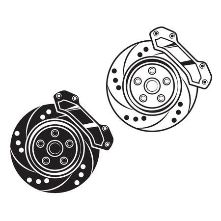 car brake: car brake. For print, sticker, label.