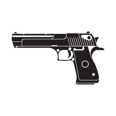army weapon for cover, poster,  print, label, sticker, game. Line style.