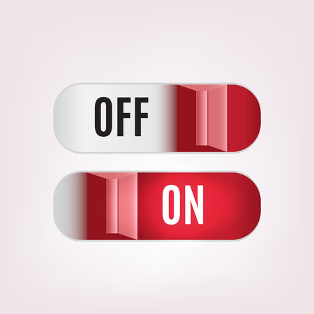 Vector illustration of on off switch button for web design Vettoriali