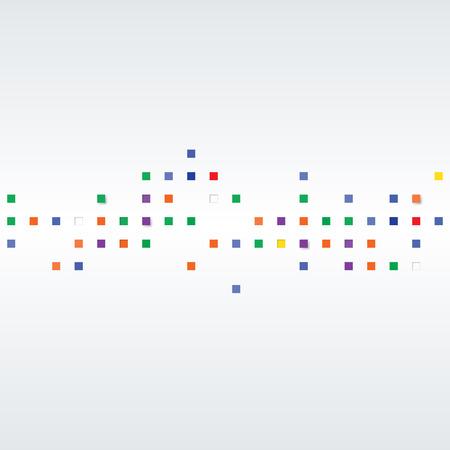 Fond de vecteur Illustration de texture abstraite avec des carrés. Modèle de conception pour la bannière, affiche, carte, carte postale, couverture, brochure. Vecteurs