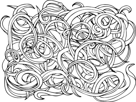 abstract doodle: Vector abstract doodle background. Can use for print, coloring