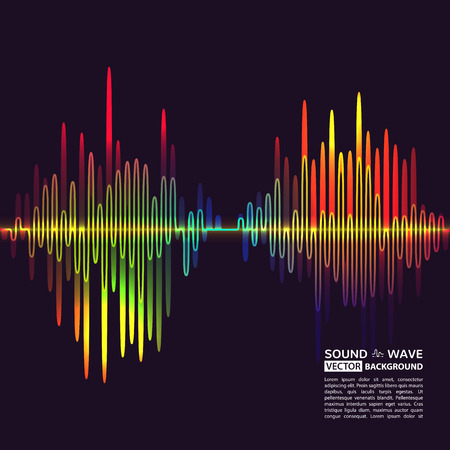 Vector illustration of equalizer background. Music poster. Sound waves and noise. Colorful design element for cover or poster.