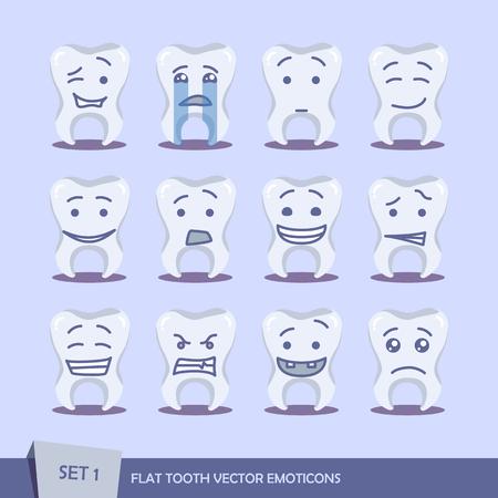 flat: Set of flat tooth