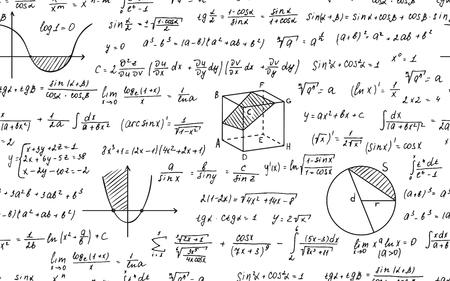 Math seamless pattern 向量圖像