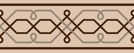 Reticolo celtico senza giunte di vettore. Usa come confine a qualcosa Archivio Fotografico - 96984448