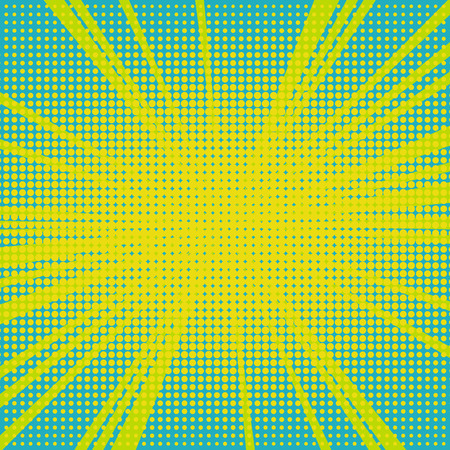 Old comic bright colored background with halftone gradient in pop art retro style. Vector illustration.