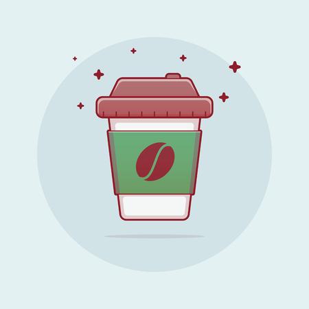 Flat paper cup Vettoriali