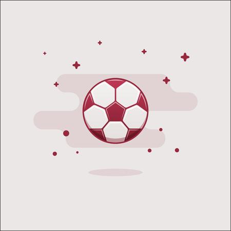 Flat football ball