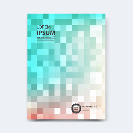 Abstract vector design for cover, poster, banner, flyer, business card, magazine annual report, title page, brochure template layout or booklet .A4 size with geometric shapes on white background. Vettoriali