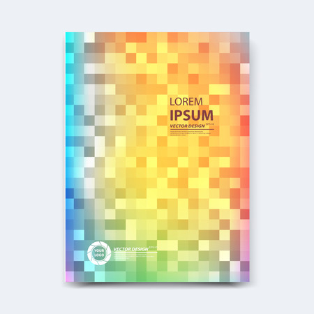 Abstract vector design for cover, poster, banner, flyer, business card, magazine annual report, title page, brochure template layout or booklet .A4 size with geometric shapes on white background. Archivio Fotografico - 104581687