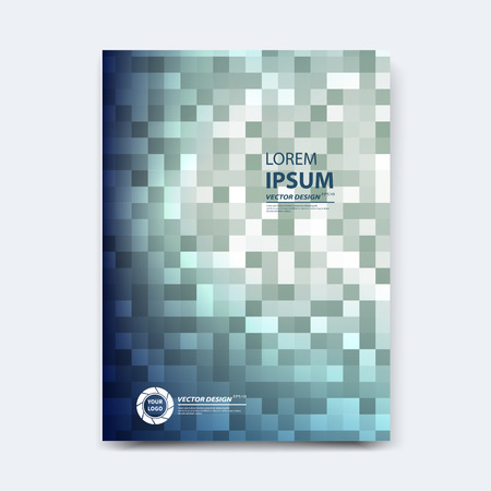 Abstract vector design for cover, poster, banner, flyer, business card, magazine annual report, title page, brochure template layout or booklet .A4 size with geometric shapes on white background. Archivio Fotografico - 104581692